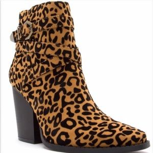 Walk This Way- Cat Print Ankle Bootie